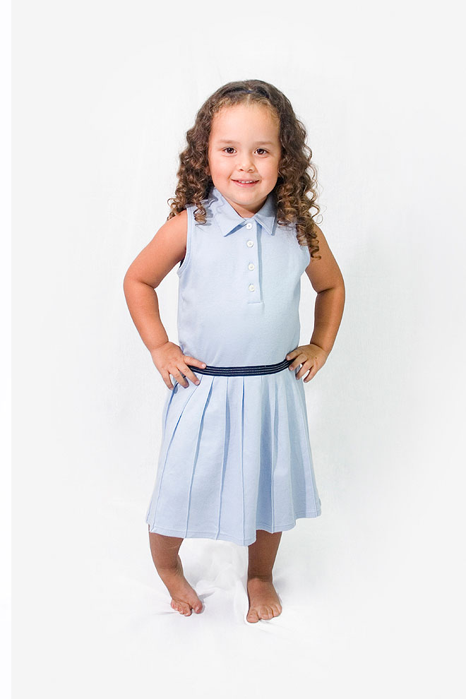 Pleated dress for girls